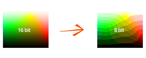 how to change the color depth of an image using reaconverter