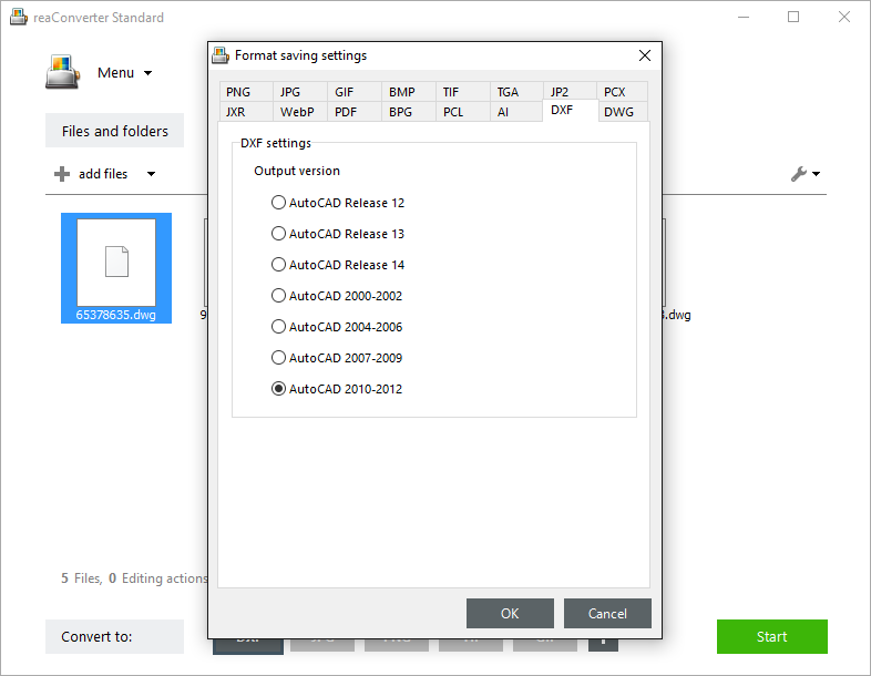 How to Convert DWG and DXF Files to a Required AutoCAD