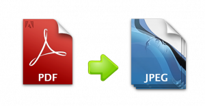 PDF to JPG conversion