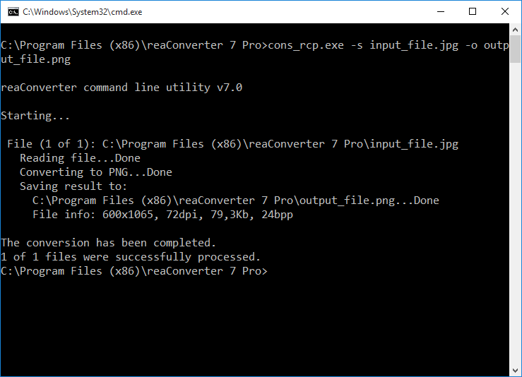 reaConverter — Command-line Image Conversion and Processing