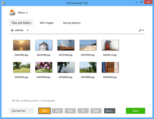 Click to view reaConverter Lite screenshots